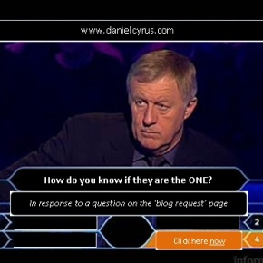 The Million Pound Question – How do you know if they are the one?